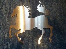 Stute mit Fohlen, Pferdebild, Pferdefamilie, Laserbild, Metallbild Hengst