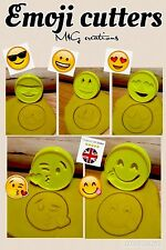 5pcs Plastic Emoji Biscuit Cookie Cutter Fondant Cake Decorating Mold 6Cm ~