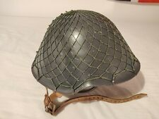 More details for east german army ddr nva m56 steel helmet with helmet net, good condition