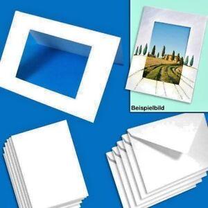 Folia Passepartoutkarten 10er Pack, 250g/qm, DIN A6, Rechteckig selber Gestalten
