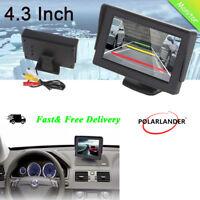 4.3'' LCD TFT Pantalla Coche Monitor DVD DVR para Coche Retrovisor Revés Cámara