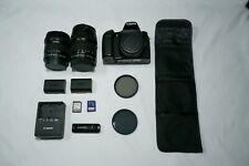 Canon EOS 70D 20.2MP DSLR BUNDLE w/ 10-18mm Wide Lens and 18-135mm Zoom Lens