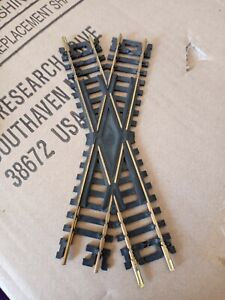 Vintage ATLAS 30 Degree Crossing Snap Track Brass HO Scale (4)