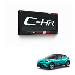 License Plate Frame No Screen Black Genuine Fits Toyota C-HR Suv 2018 - 2019