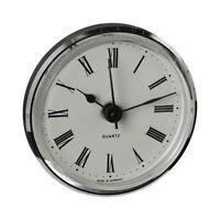Uhrwerk Quartz Einbau-Uhr Ziffern römisch Lünette silber Ø 66 mm Batterie inkl.