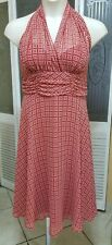 CONNECTED APPAREL LADIES SEXY RED & WHITE DRESS - SIZE 14