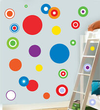 Colorido círculos Multipack-Pack De 22 calcomanías de pared calcomanías Dots Murales
