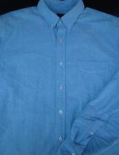 J Crew Mens Button Front Long Sleeve Green Cotton Shirt Large L