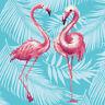 Diamond Painting Kit Dotz 5D 3D DIAMOND ART FLAMINGO DUO 32 x 32cm Pink Tropical