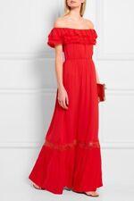 Alice + Olivia Cheri  Red Maxi Dress Off The Shoulder Size 8 NWOT