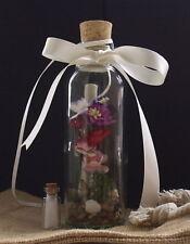 Message in a Bottle Personalised Keepsake 4th Wedding Anniversary Linen.Scroll