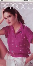Berroco Poppy Women's Polo Shirt #737 Misses Sz 6-16 Knitting PATTERN Leaflet
