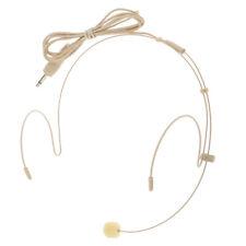 Beige Ear Hook 3.5mm Mono Port Headworn Headset Head-mounted Microphone MIC