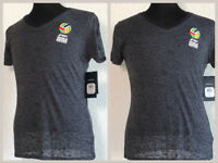 NWT Asics Gray Smoke Women's V-Neck Volleyball T-Shirt Top Size Medium