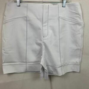 INC International Concepts Size 16 Bright White High Rise Shorts Black Stitch