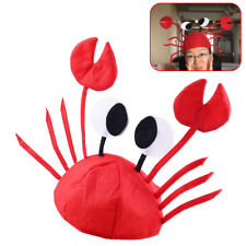 Red Funny Adjustable Sea Animal Lobster Crab Felt Hat Cap Costume Party Props