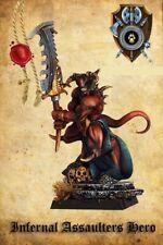 Shieldwolf Miniatures Infernal Assaulters Hero Kindom Of Hell