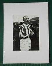 STANLEY MATTHEWS - SIGNED MOUNTED PHOTOGRAPH - 1965 TESTIMONIAL MATCH ON PITCH