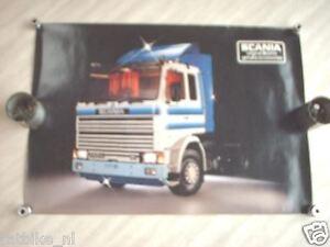 SCANIA  TRUCK 142M V8 POSTER 1981