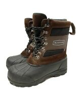 "Mens 10 Lacrosse Outpost II 11"" Brown Leather Winter Snow Boots 600801"