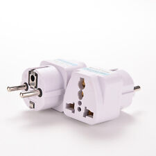 Portable US UK AU To EU European Power Socket Plug Adapter Travel Converter QH