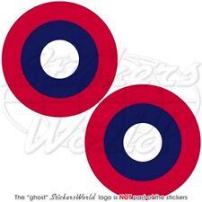 USAF American Expeditionary Force AEF Flugzeug WWII Roundel Sticker Aufkleber x2