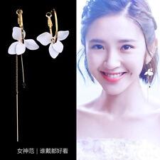 Elegent Women Korean Tassel Rhinestone Crystal Pearl Geometric Ear Stud Earrings