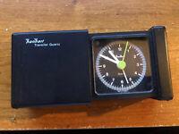 "Vintage "" Han Hart "" travel alarm traveler clock quartz."