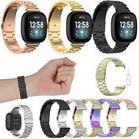 NEU Uhrenarmbänder Armband Strap für Fitbit Versa 3 / Fitbit Sense Edelstahl