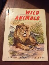 Vtg WILD ANIMALS 510 ~ Anna Ratzesberger / Vlasaty ~ 1958 Rand McNally Elf Book
