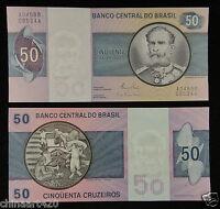 BRAZIL BRASIL Paper Money 50 Cruzeiros 1980 UNC