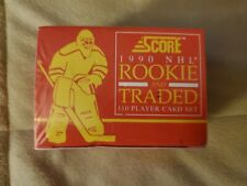 Score 1990 NHL Rookie and Traded 110 Player Card Set Sealed Gretzky's 2,000th Po