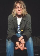 KURT COBAIN POSTER - GREAT SHOT - RARE NEW HOT 24X36