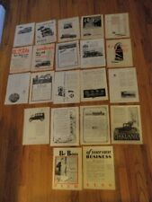 Vtg 1916-1930 Car Magazine Print Ad Lot of 20 Oakland Essex++ Free Ship Qa100