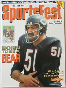 1999 Sportsfest Guide to Collectibles Program Dick Butkus Chicago Bears Cover