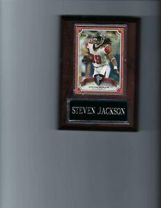 STEVEN JACKSON PLAQUE ATLANTA FALCONS FOOTBALL NFL   C4