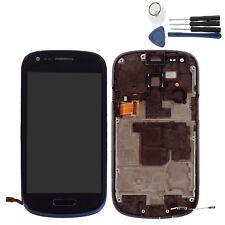 Für Samsung Galaxy S3 Mini i8190 LCD Display Bildschirm Touch Screen Rahmen Blau