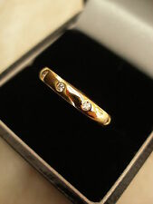 18CT GOLD DIAMOND WEDDING / ETERNITY RING MADE BY THE BEST IN THE BUSINESS, ME !