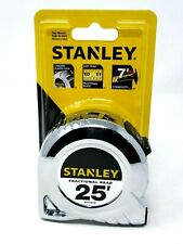 New STANLEY Tape Measure- Chrome- 25Ft. Fractional Read- STHT30159  -Free Ship