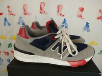 New Balance 597 Navy Blue Red Grey Size 8 Great Condition Free Shipping