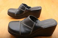 Bass Black Wedge Mules Women's Size 10 M