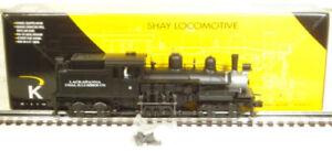 K-Line K3438-0002CC Lack Coal & Lumber Shay Locomotive LN/Box