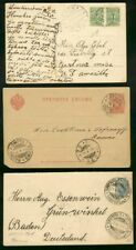 Finland 1894-1908 covers, cards, stationery (x9)