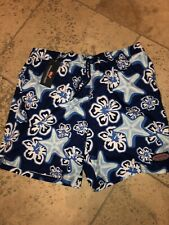 NWT Vineyard Vines Men's Chappy Swim Trunks Starfish Blue Depth M $89.50