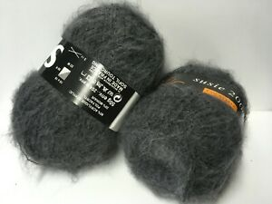 10 pelotes laine mohair/ gris/ fabriqué en FRANCE