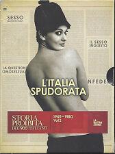2 Dvd Video Box Cofanetto **L'ITALIA SPUDORATA** Storia proibita del '900 vol. 2