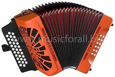 Hohner Compadre Orange FA FBE Accordion Acordeon Bag,Shirt,BackPad FREE AIR SHIP