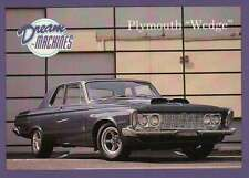 "Plymouth "" Wedge "", Dream Machines Cars, Trading Card, Automobile - Not Postcard"