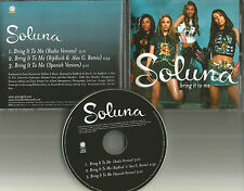 SOLUNA Bring it to me w/ RARE REMIX & SPANISH Version PROMO DJ CD single 2001