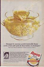 PUBLICITE ADVERTISING 034 1966 ROYCO Poulet vermicelle Françoise Bernard